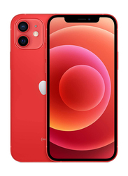 Apple iPhone 12 64GB Red, Without FaceTime, 4GB RAM, 5G, Dual Sim Smartphone, Middle East Version