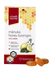 Nz Health Naturally Manuka Honey Lozenges with Lemon, 12 Lozenges