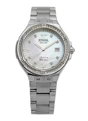 Jovial Fashion Analog Watch for Women with Stainless Steel Band, Water Resistant, 16065 LSMQ 05 -ZE, Silver