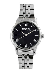 Jovial Analog Watch For Women with Stainless Steel Band, Water Resistant, 2012 LSMQ 03 E, Silver-Black