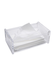 Al Hoora Acrylic Tissue Box Holder, AC35064, Clear