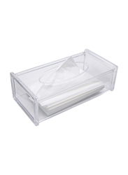 Al Hoora Acrylic Tissue Box Holder, AC35167, Clear