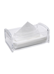 Al Hoora Acrylic Tissue Box Holder, AC35065, Clear