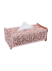 Al Hoora Acrylic Luxury Tissue Box Holder, AC36239RG, Rose Gold