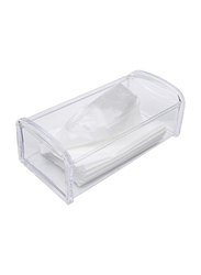 Al Hoora Acrylic Tissue Box Holder, AC35166, Clear