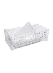 Al Hoora Acrylic Tissue Box Holder, AC12231, Clear