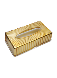 Al Hoora Acrylic Tissue Box Holder, AC36472, Gold