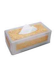 Al Hoora Classic Acrylic Tissue Box Holder, AC20202, Gold