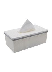 Al Hoora Plastic Tissue Box Holder, HH-3017W, White