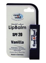 Cool & Cool SPF20 Lip Balm, Vanilla, Clear