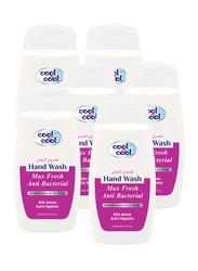 Cool & Cool Max fresh Anti-Bacterial Hand Wash, 250ml, 6 Pieces