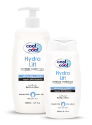 Cool & Cool Hydra Lift Body Lotion Set, 500ml + 250ml, 2-Pieces