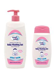 Cool & Cool 2-Pieces Baby Washing Gel, 500ml + 250ml