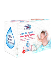 Cool & Cool 2 Pieces 99% Water Content Wipes for Babies, 64 Sheets