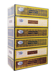 Cool & Cool Emotions Embossed Facial Tissues, 6 Boxes x 100 Sheets x 2 Ply