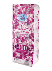 Cool & Cool Printed Embossed Toilet Roll, 10 Rolls x 400 Sheets x 2 Ply