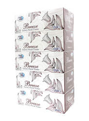 Cool & Cool Breeze Facial Tissue, 200 Sheets x 5 Pieces, White