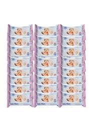 Cool & Cool 24 Pieces Baby Wipes, White, 72 Sheets