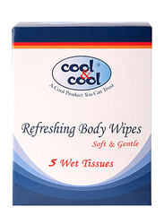 Cool & Cool Refreshing Body Wipes, 5 Sheets