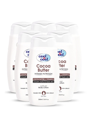 Cool & Cool Cocoa Butter Body Lotion Set, 250ml, 6-Pieces