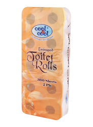 Cool & Cool Printed Embossed Toilet Roll, 10 Rolls x 300 Sheets x 2 Ply