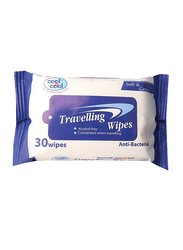 Cool & Cool Travelling Wipes, 30 Sheets