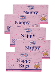 Cool & Cool 100 Sheets Nappy Bags for Baby, N110, 5-Pieces