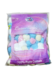 Cool & Cool Premium Quality Cosmetic Balls, 100 Pieces