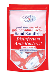 Cool & Cool Disinfectant Anti Bacterial Hand Sanitizer, 100 Sachets