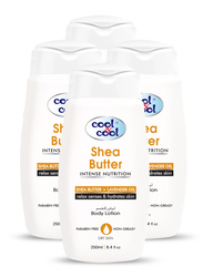 Cool & Cool Shea Butter Body Lotion Set, 250ml, 4-Pieces