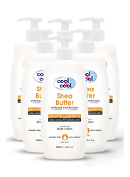 Cool & Cool Shea Butter Body Lotion Set, 500ml, 6-Pieces