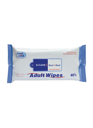 Cool & Cool Adult Wipes, 40 Sheets