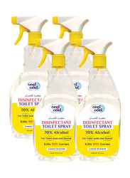 Cool & Cool Disinfectant Toilet Spray, 750ml, 4 Pieces, Yellow