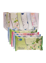 Cool & Cool Selected Facial Tissue, 2 Ply x 24 Sheets x 5 Pieces, White