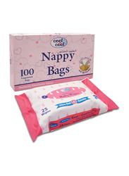 Cool & Cool 2-Pieces Nappy Bags Set for Baby, Nappy Bags 100 Sheets N110, Baby Wipes 25 Sheets B2062
