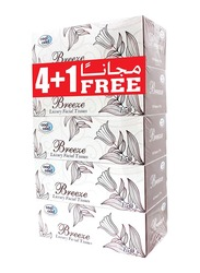 Cool & Cool Breeze Facial Tissue, 150 Sheets x 5 Pieces, White
