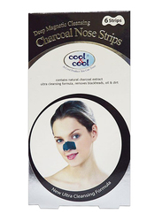 Cool & Cool Charcoal Nose Strips, 6 Strips