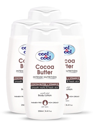 Cool & Cool Cocoa Butter Body Lotion Set, 250ml, 4-Pieces