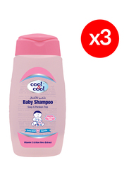 Cool & Cool 3-Pieces Baby Shampoo, 250ml