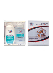 Cool & Cool Sensitive Anti-Bacterial Gift Box, Hand Wash 100ml + Hand Sanitizer 100ml, 2-Pieces