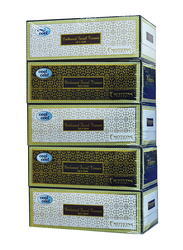 Cool & Cool Emotions Embossed Facial Tissues, 5 Boxes x 200 Sheets x 2 Ply