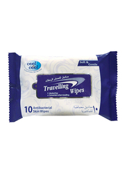 Cool & Cool Travelling Wipes, 10 Sheets