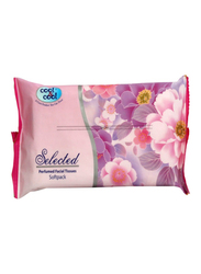 Cool & Cool Selected Perfumed Facial Tissues, Soft Pack, 5 Packs x 100 Sheets x 2 Ply