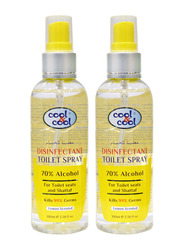 Cool & Cool Disinfectant Toilet Spray, 100ml, 2 Pieces, Yellow