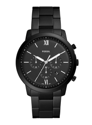 Fossil Neutra Analog Watch for Men, with Stainless Steel Band, Water Resistant and Chronograph, FS5474, Black