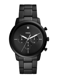 Fossil Neutra Analog Watch for Men, with Stainless Steel Band, Water Resistant and Chronograph, FS5583, Black