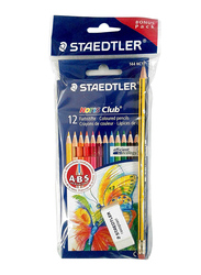 Staedtler 12-Piece Noris Club Bonus Pack Pencils with Rasoplast Set, Multicolor