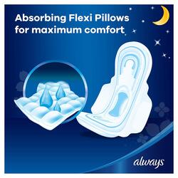 Always Maxi Thick Clean & Dry Night Sanitary Pads, 24 Pads