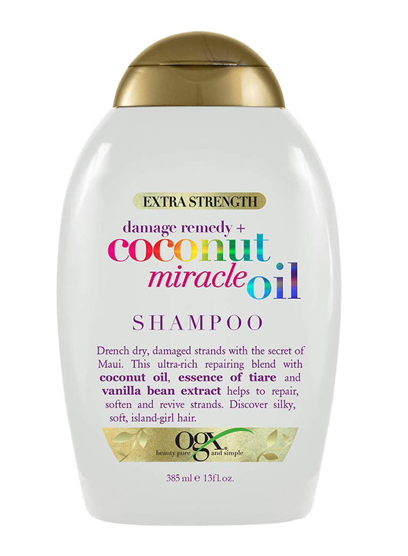 Ogx Extra Strength Damage Remedy Plus Coconut Miracle Oil Shampoo for Damaged Hair, 385ml