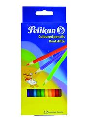 Pelikan 12-Piece Buntsifte Colouring Pencils Set, Multicolor